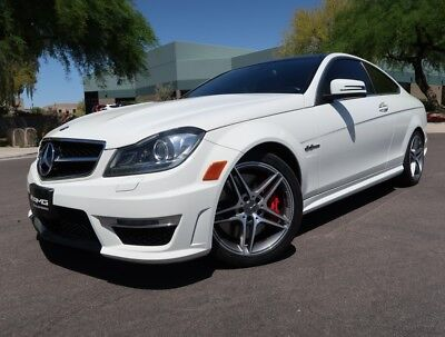 2012 Mercedes-Benz C-Class C63 AMG Coupe P31 P31 AMG Development Package Pano Roof White Red Designo 2013 2011 c63 coupe