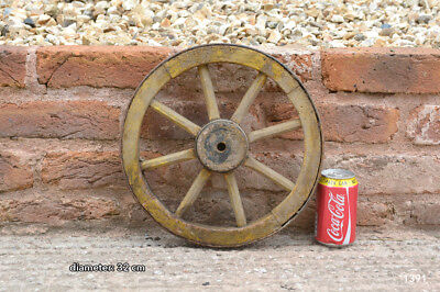 Vintage old wooden cart wagon wheel  / 32 cm  - FREE DELIVERY