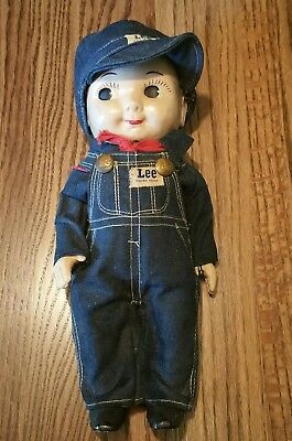 Original BUDDY LEE Doll Great Condition Engineer in Overalls w/Cap