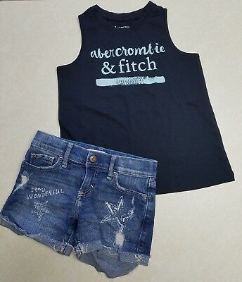 Abercrombie Kids Girls Shorts & Tank Top Outfit Size 5/6 EUC