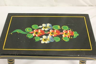 1970 Built by J.S. Ebersol Hand Painted American Foot Stool. Pre-Owned.