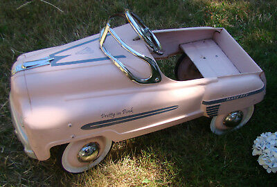Vintage PRETTY IN PINK Pedal Car Mary Kay Cosmetics Collectable Advertising