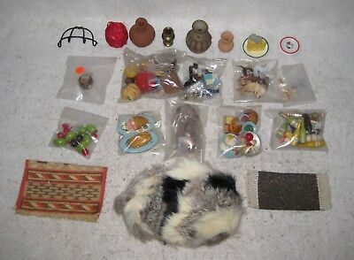 Doll House Accessories Mixed Lot of Vintage Miniatures