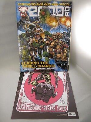 2000AD Xmas Special & Limited Edition Signed Starlord Henry Flint Print
