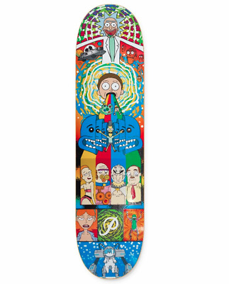RICK AND MORTY x Primitive Skateboards Adult Swim Series Collage 8.0 Deck
