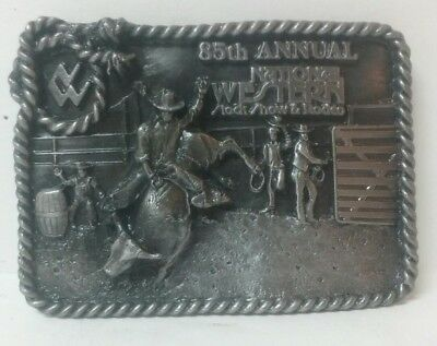 1991 NATIONAL WESTERN STOCK SHOW AND RODEO BELT BUCKLE limited ED