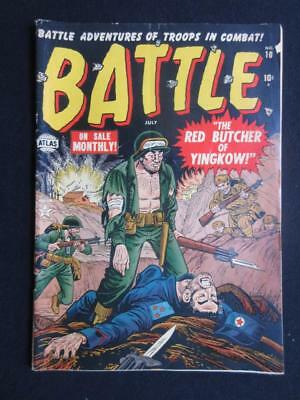 Battle #10 1952 - the red butcher of yingkow - war, golden age comic books ATLAS