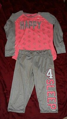 Pre-owned Justice size 16 18 PJ set pajamas top bottoms Girls