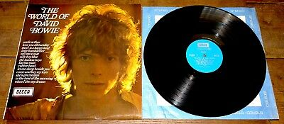 David Bowie ~ The World Of ~ Uk Decca Stereo Lp 1970 1W/1W Curly Hair 1St Press