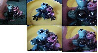 "Kitty's Critters Frog Figurine ""toadly In Love"" Heart Flashes Rare Kritter"