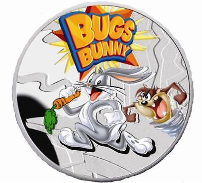 Niue 2013 $1 Cartoon Characters Bugs Bunny Rabbit .925 Proof Silver Coin