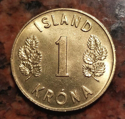 1974 Iceland 1 Krona Coin - Uncirculated - #3234