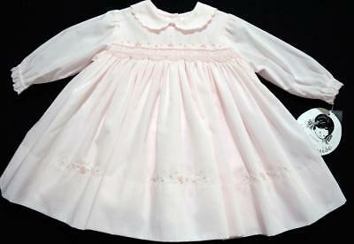 Sarah Louise 6M Smocked Pink Dress W/floral Embroidery~Nwt's