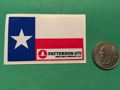 Oilfield Decal Sticker Patterson Drilling Gas Field Oil Drilling Hardhat Texas
