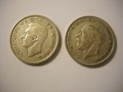 2 British Silver Half Crowns  1931 And 1946