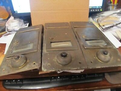 Vintage 3 Brass Front Mailbox/letterbox With Door Bell /intercom System L@@k