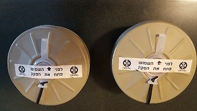 (qty 2) NEW Sealed Genuine Military  Israeli NATO NBC 40mm  Gas Mask Filter