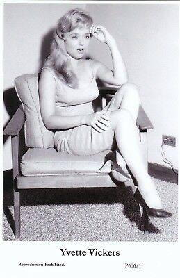 YVETTE  VICKERS - hollywood  MOVIE star  PIN-UP/CHEESECAKE  modern 2000 postcard
