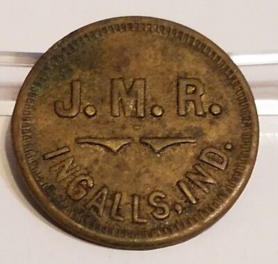 J.M.R. Ingalls, Indiana IN Good for 1 Loaf Bread Trade Token SCARCE
