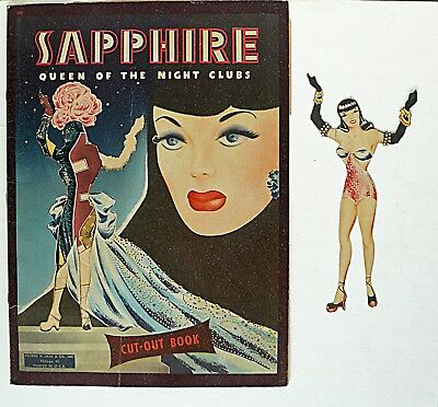 Original SAPPHIRE Queen of the Night Clubs PAPER DOLLS Lilja 1930s USED