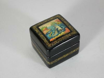 Russian Black Lacquer Box by Vavakin?