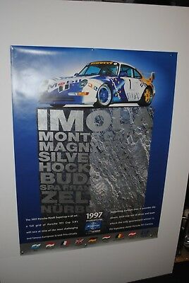 1997 Porsche 911 GT1 Supercup Schedule Showroom Advertising Sales Poster Rare!