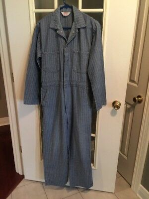 Walls Master Made Mechanic Coveralls Work stripe Sz.(see Measurements) Nice!