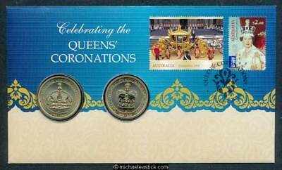 2013 Celebrating the Queens' Coronations Postal Numismatic Cover