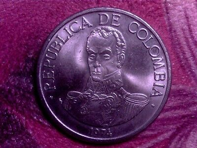 Colombia  1 Peso  1974    Nice  Coin   Jy15
