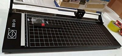 "Open Box! 24"" 620mm All Metal Frame Manual Rotary Paper Trimmer Pro PVC &Paper"