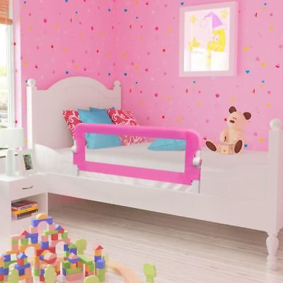 vidaXL Toddler Safety Bed Rail 102x42cm Pink Baby Cot Protective Gate Guard