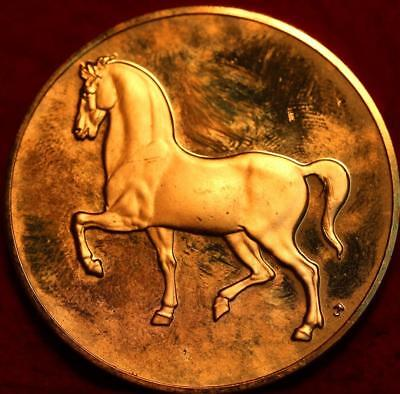 Uncirculated 2.3oz Sterling Silver Medal Study Of A Horse