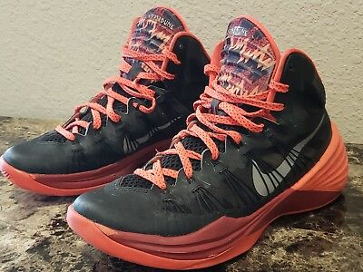low priced 37844 9bce2 NIKE 613875-003 HyperDunk Black Red Mens SIZE 8.5 Basketball shoes