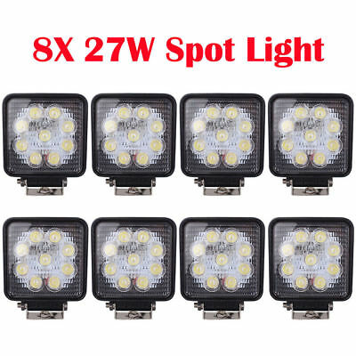 8X 4.7INCH 27W HID XENON Driving Light SPIRAL Spot OffRoad Lamp UTE Work 4WD 12V