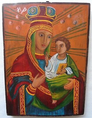 Antique Russian icon of the Virgin. Russia, Chernigov Province. 19th century.