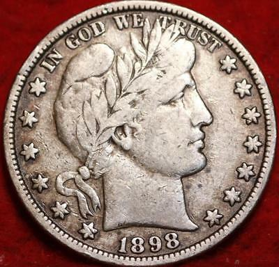 1898 Philadelphia Mint Silver Barber Half Dollar