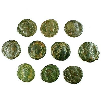 Ten (10) Nicer Ancient Roman Coins c. 100 - 375 A.D. Exact Lot Shown rm2939