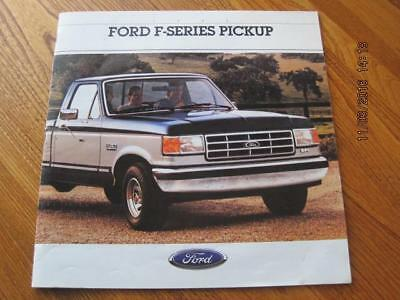 FORD F SERIES PICKUP 1988 Show Room Brochure NM