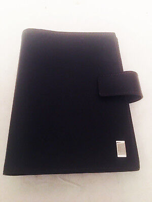 $725 Dunhill Men's Brown Leather Medium Ring Agenda Cover