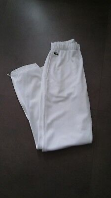 """vtg Chemise Lacoste white tracksuit trousers 30 - 32"""" waist indie 80s casuals"""