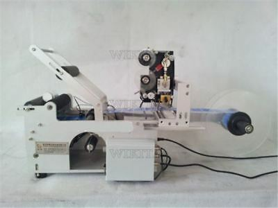 LT-50D Semi-Automatic Round Bottle Labeler Labeling Machine With Printer 220V sm