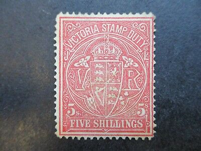 Victoria Stamps:  Stamp Duty MINT WITH GUM  (j82)