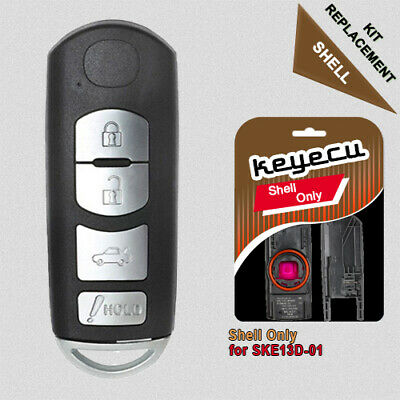 Remote Key Fob Shell Case Replacement for Mazda 3 6 2014-2018 4 Button SKE13D-01