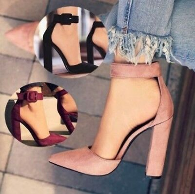 Women's Summer High Heels Ankle Strap Pointed Toe Heels Pumps Shoes Party Shoes