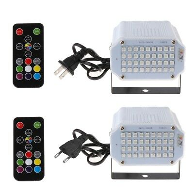 36LED 5050 RGB Stage Light DJ Strobe Light Flash Lighting With Remote Control
