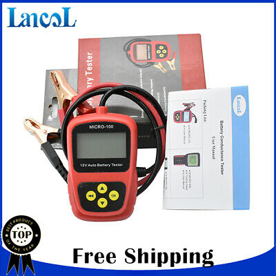 LANCOL Car battery tester Auto Vehicle Battery Analyzer fit for AGM CCA GEL 12V