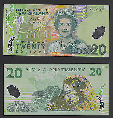 NEW ZEALAND 2005 $20 Dollar POLYMER NOTE  #Y1937