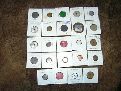 Vintage Lot Of 24 State Sales Tax Tokens Missouri New Mexico Alabama Etc.