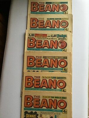 The Beano Comic - 6 Issues From 1975 & 1976 - For Sale As Abundle