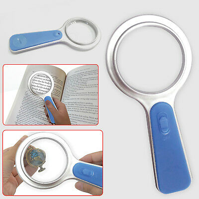 5X Magnifying Glass With Light Led Lamp Giant Magnifier Reading Hand Held